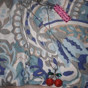 Betsey Johnson Cherries Necklace